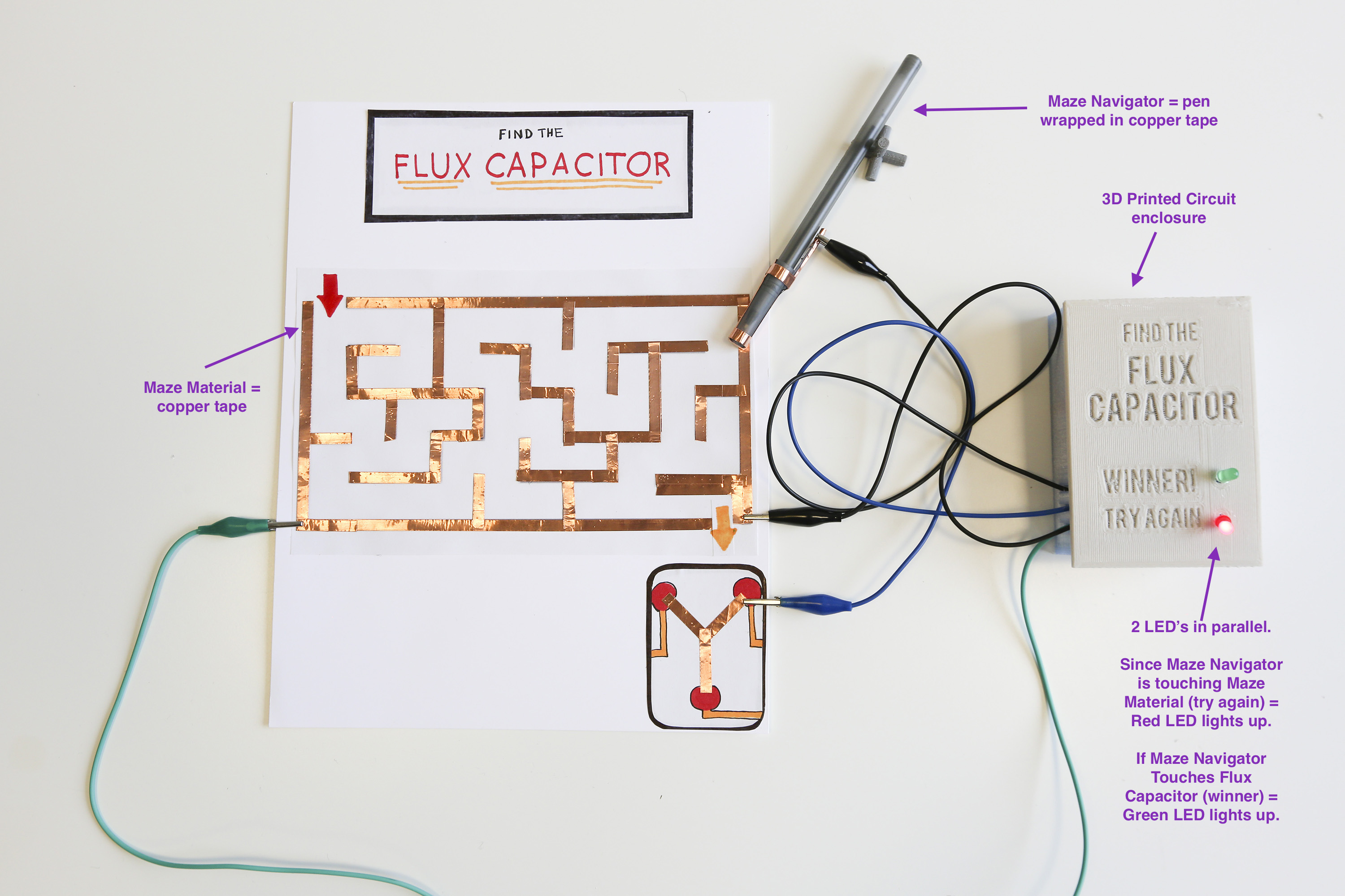 Circuit Maze Project By Makerbotlearning Thingiverse Planning A Electrical Sample Design