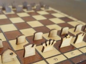 Chess pieces (lasercut)