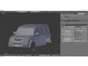 Honda element rc car body