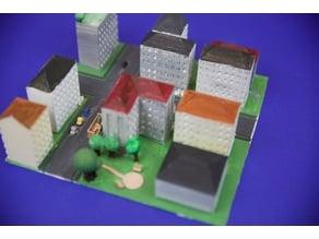 city model of munich westend