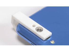 Cell phone microscope adapter for laser pointer lens