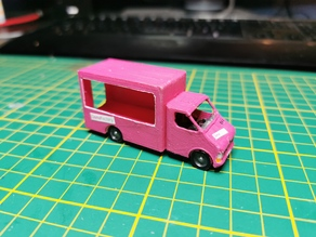 Foodtruck in H0 Scale