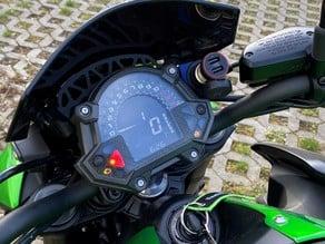 Kawasaki Z900 12V power socket mount