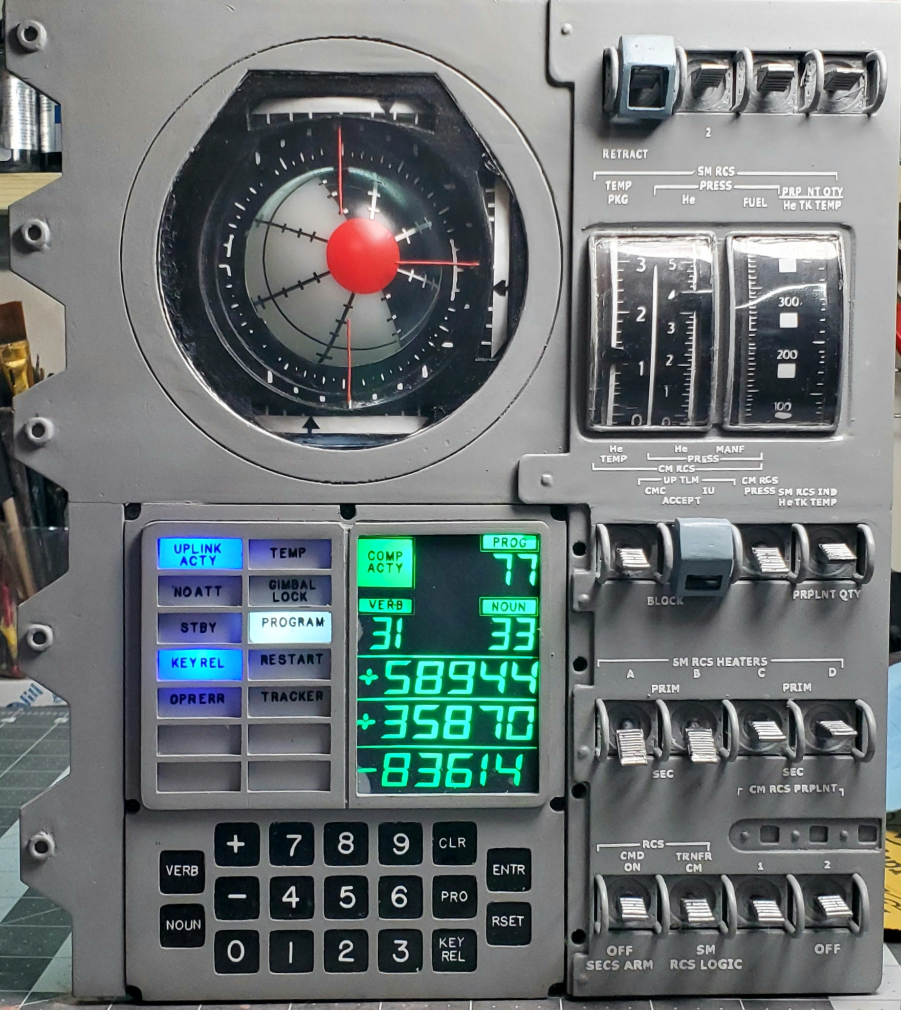 Apollo DSKY, FDAI control panel