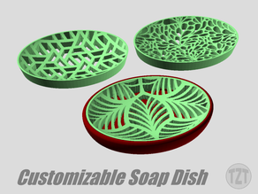 Customizable Soap Dish with Decorative Inserts