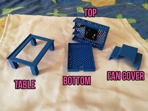 Raspbian pi4 / pi4B case 30mm original fan!