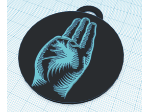 Scout keychain hand
