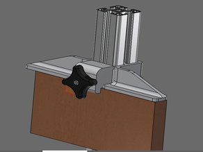 rectangular board clamp for industrial profiles