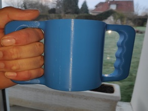 two handles cup or glass for handicapped person, tasse gobelet avec 2 anses