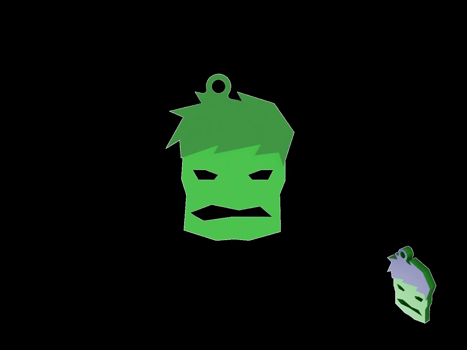 Keychain Hulk Minimal