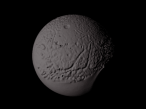 Ariel with known topography scaled one in ten million