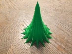 Spiky minimalist vase mode Christmas tree