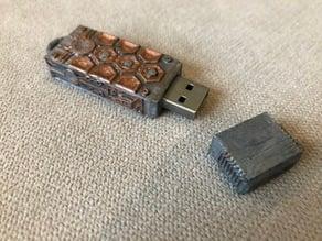 Steampunk USB (4mmX12mmX42mm USB stick cover)