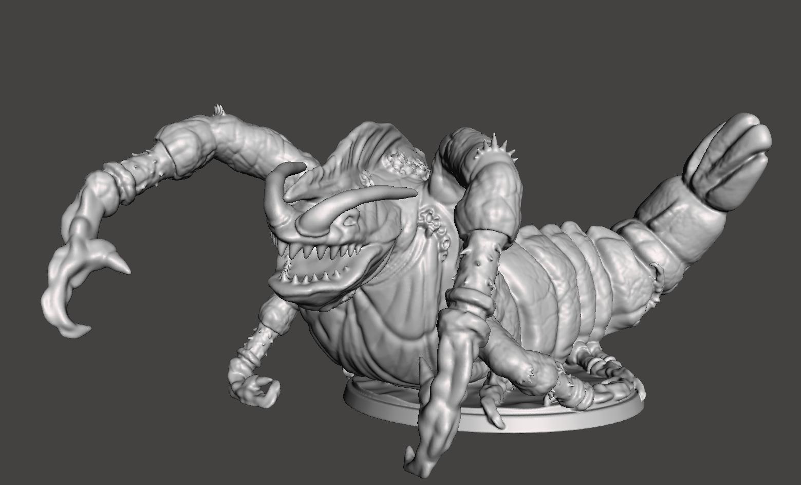 Shrimp Monster (Pose 3) - Tabletop miniatures
