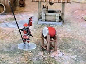 Japanese samurai taiko drum