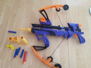 Nerf big bad bow modular barrel system