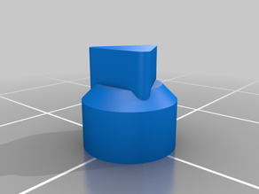Push button triangle cap