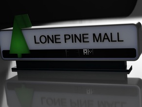 Carlz Lone Pine Mall Reversible Sign