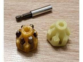 Screwdriver bit holder and stubby screwdriver