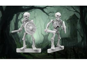 Skeleton Warrior - 28mm wargames fantasy miniature V2 Redux