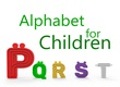 alt Alphabet for children. P Q R S T