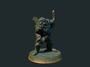 Orc scout/archer 28mm (supportless, FDM friendly)