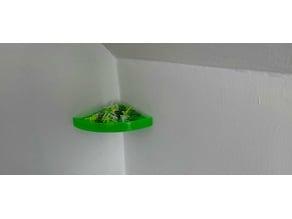 Shelf corner (hidden holder)