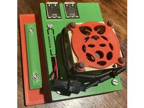 Raspberry Pi 3 B/B+ Case with 40mm fan slot and mount for Ender