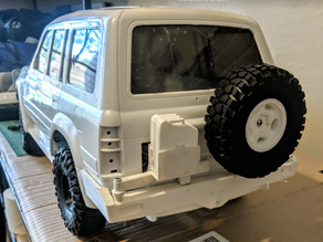Scale Kaymar Rear Bumper and body bracket for 1:10 Axial SCX10 Land Cruiser FJ80 Hardbody