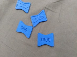 Coins with numbers unbranded