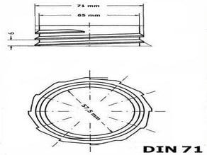 Canister Screw Cap DIN 71