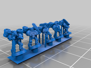 Galactic Crusaders - Segmented Armour Troops - 6-8mm