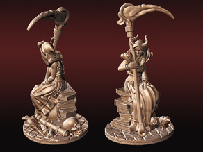 Lady Necromancer Statuette (Pre-Supported)