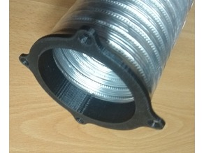 80 mm aluminium flexible round hose mount