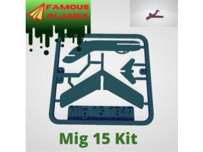 FAMOUS PLANES - Mig 15 kit card