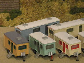 HO Scale Travel Trailers