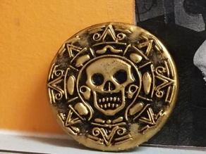 Aztec coin 2 sided and smoothed