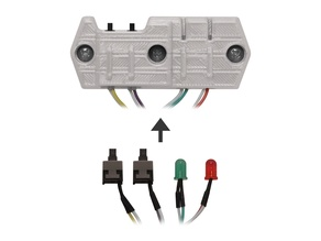 Power Switch and LEDs for PC Mount