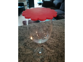 Protection cover for wine glass / Deckel für Weinglas