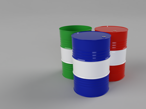 208 liter oil barrel
