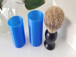 Shaving brush travel container