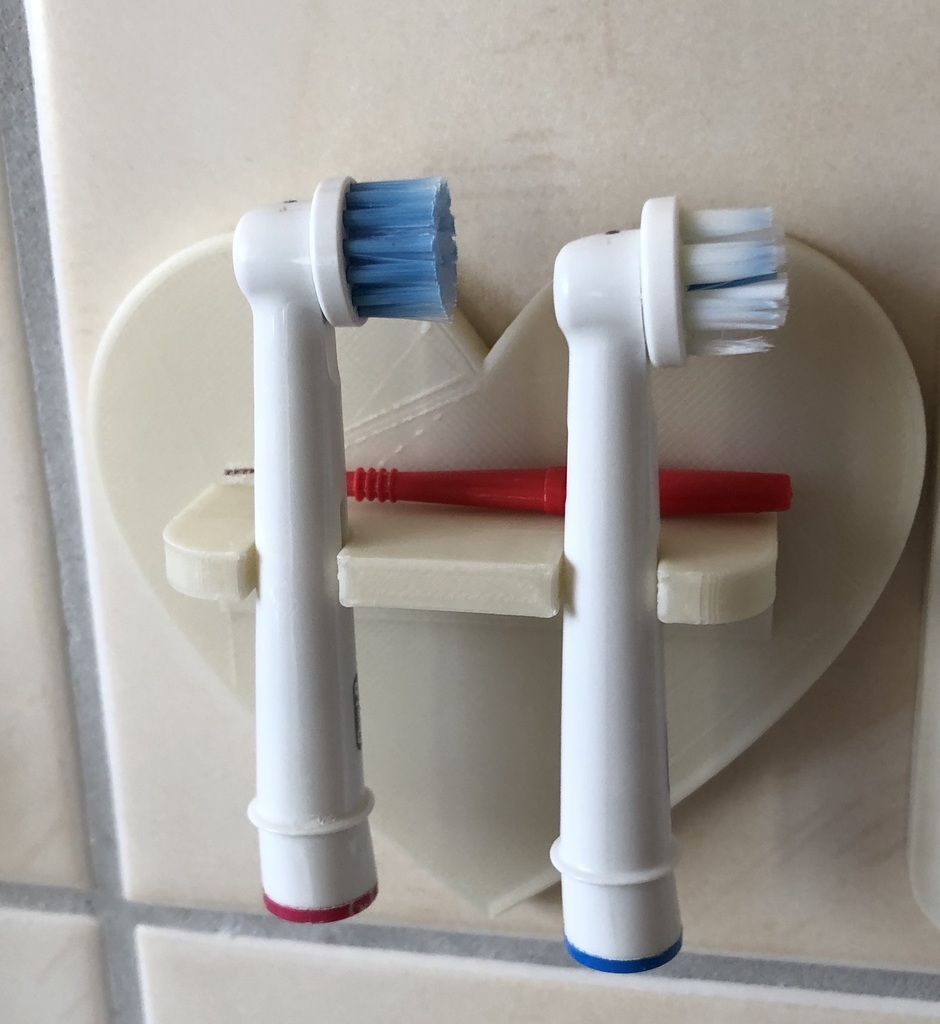 Toothbrush holder for Braun Oral-B brush heads / Halter für Braun Oral-b Zahnbürtenköpfe