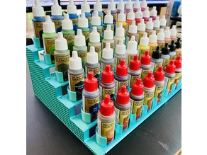 Modular holder for miniature paints and brushes