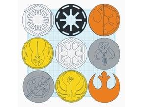 Star Wars Husky Bin Wheel Covers