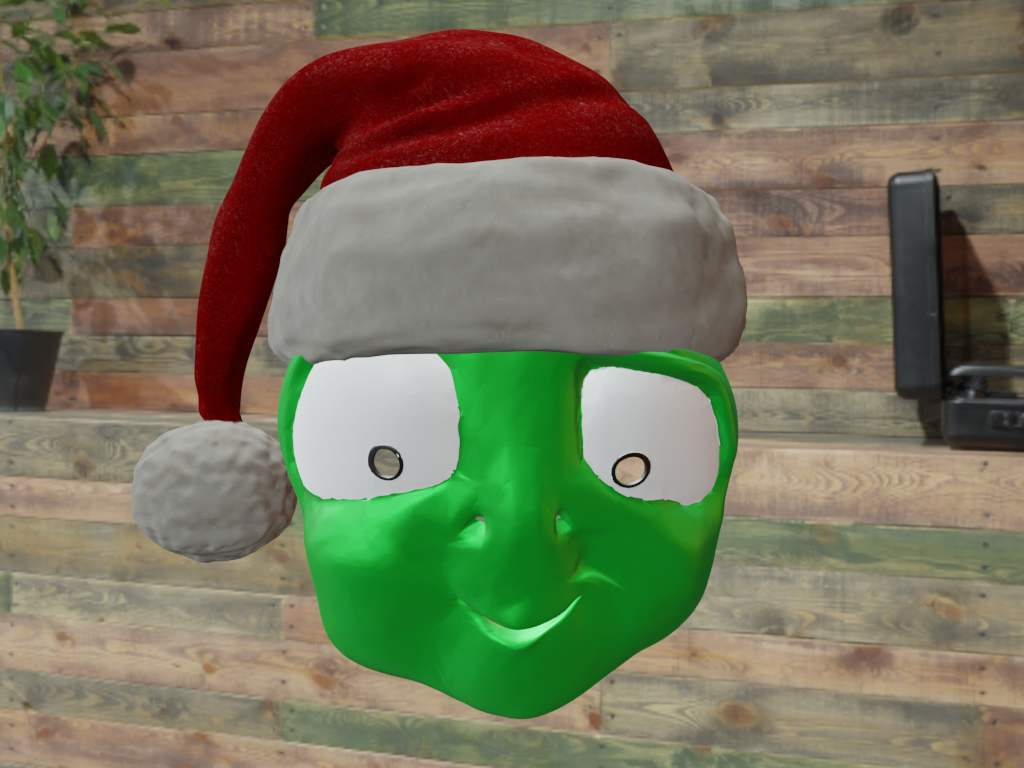 Alzák mask with santa hat