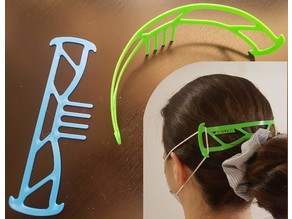 Surgical Mask Head Band with Hair Comb