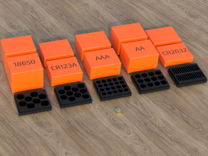 Battery Box Set (for AAA, AA, CR123A, 18650 & CR2032)