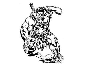 Hulk stencil 4