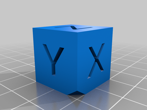 Calibration Cube with 45° Chamfered Corner - XYZ 20mm