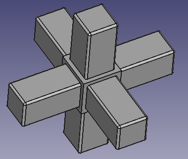 Star angle connector for Square tube 10x10x1mm